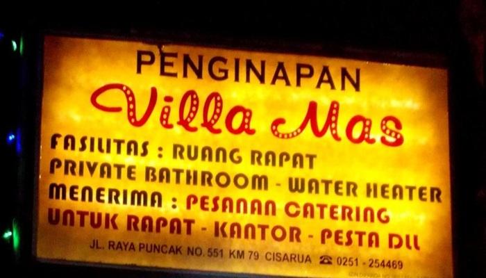 Penginapan Villa Mas Puncak
