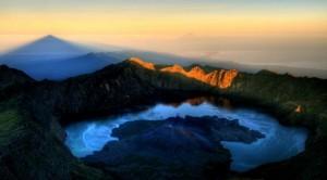 Kaldera gunung Rinjani lombok