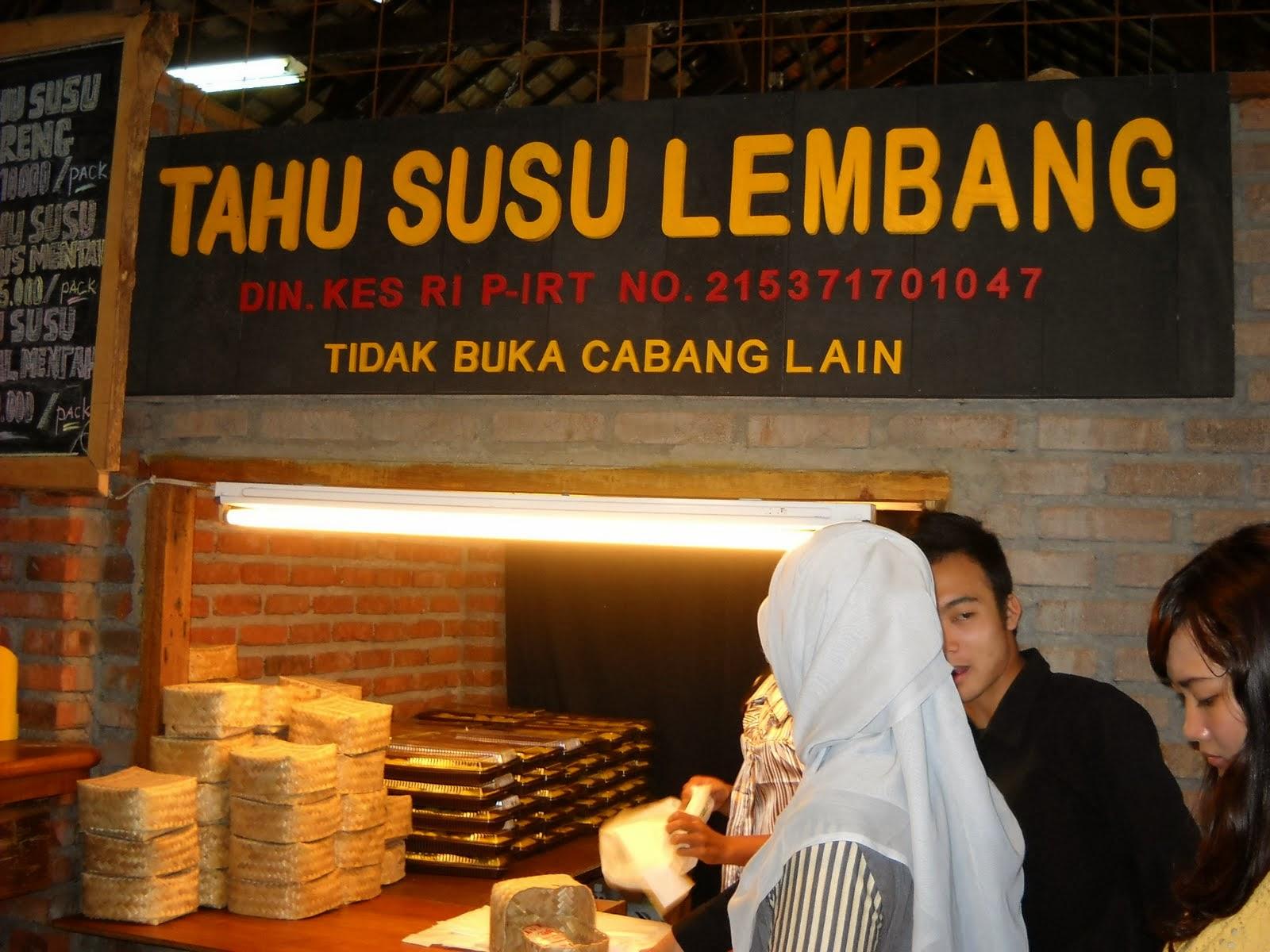 Tempat Wisata Kuliner tahu Susu Lembang Bandung