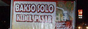 Bakso Solo Kidul Pasar Malang
