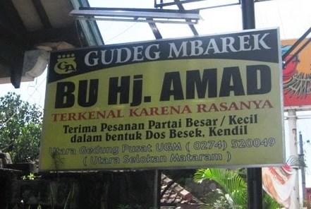 Gudeg Bu Hj. Ahmad Yogyakarta