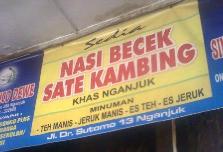 Nasi Becek - Kuliner khas Nganjuk