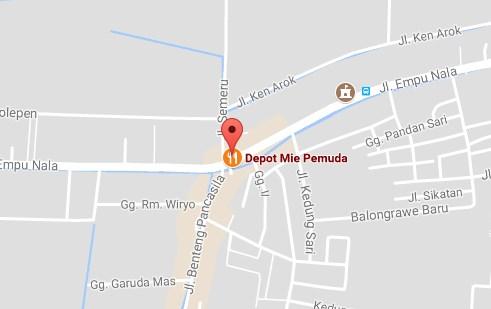 Peta Alamat Depot Mie Pemuda Mojokerto