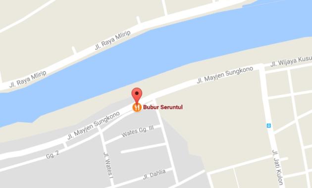 Peta Alamat Tempat wisata kuliner Bubur Sruntul Bu Saudah