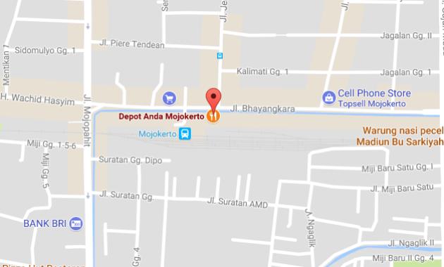 peta alamat Depot Anda Mojokerto (1)