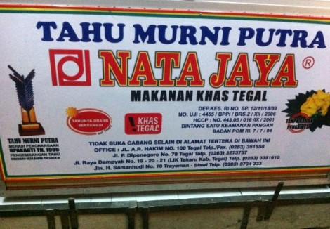 Tahu Murni dan Rumah Makan Nata Jaya