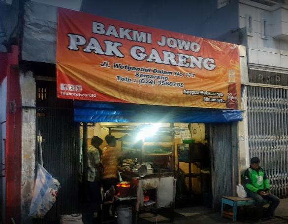 Bakmi jowo Pak Gareng Semarang