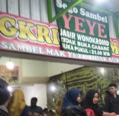 Sego Sambel Mak Yeye Surabaya